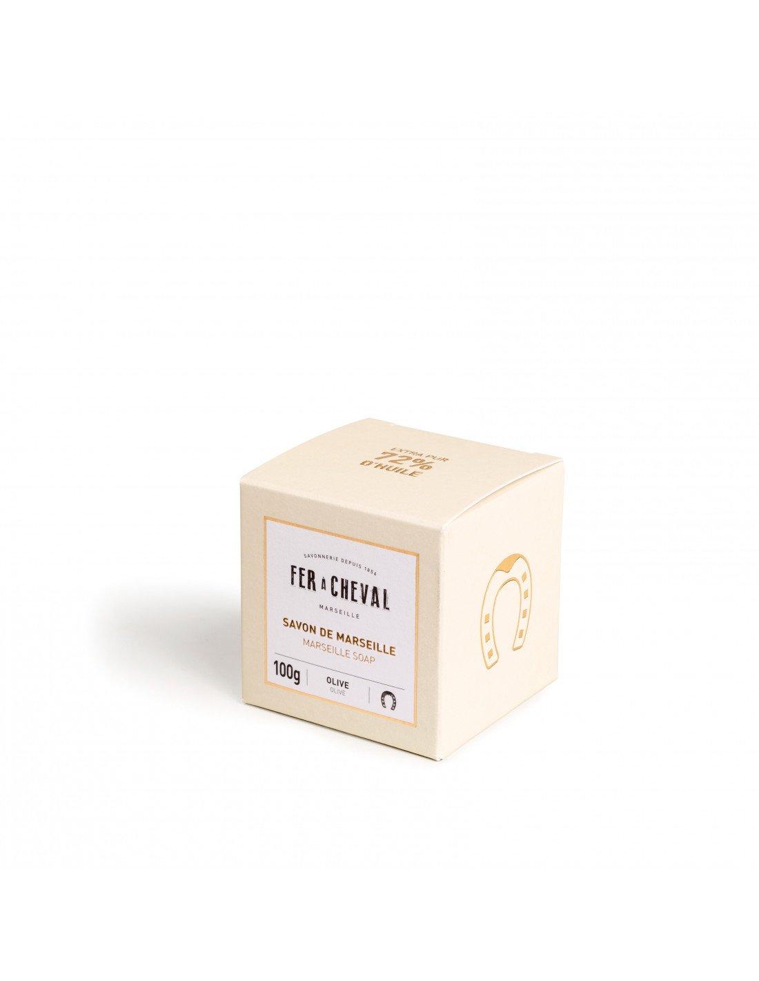 Cadeau savon de marseille 72 huile olive 100g for Fer a cheval savon de marseille